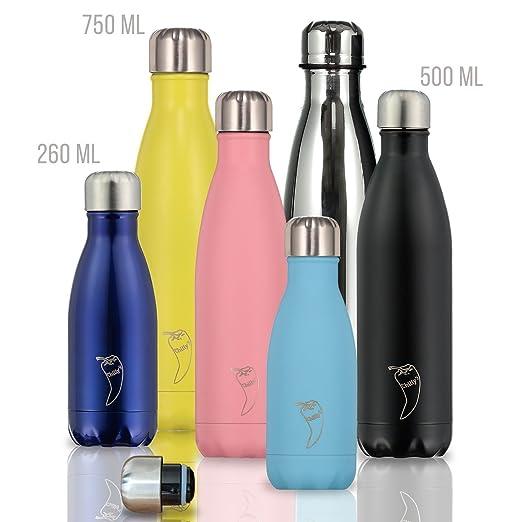 102 opinioni per Chillys Bottles- Bottiglia riutilizzabile, a parete doppia
