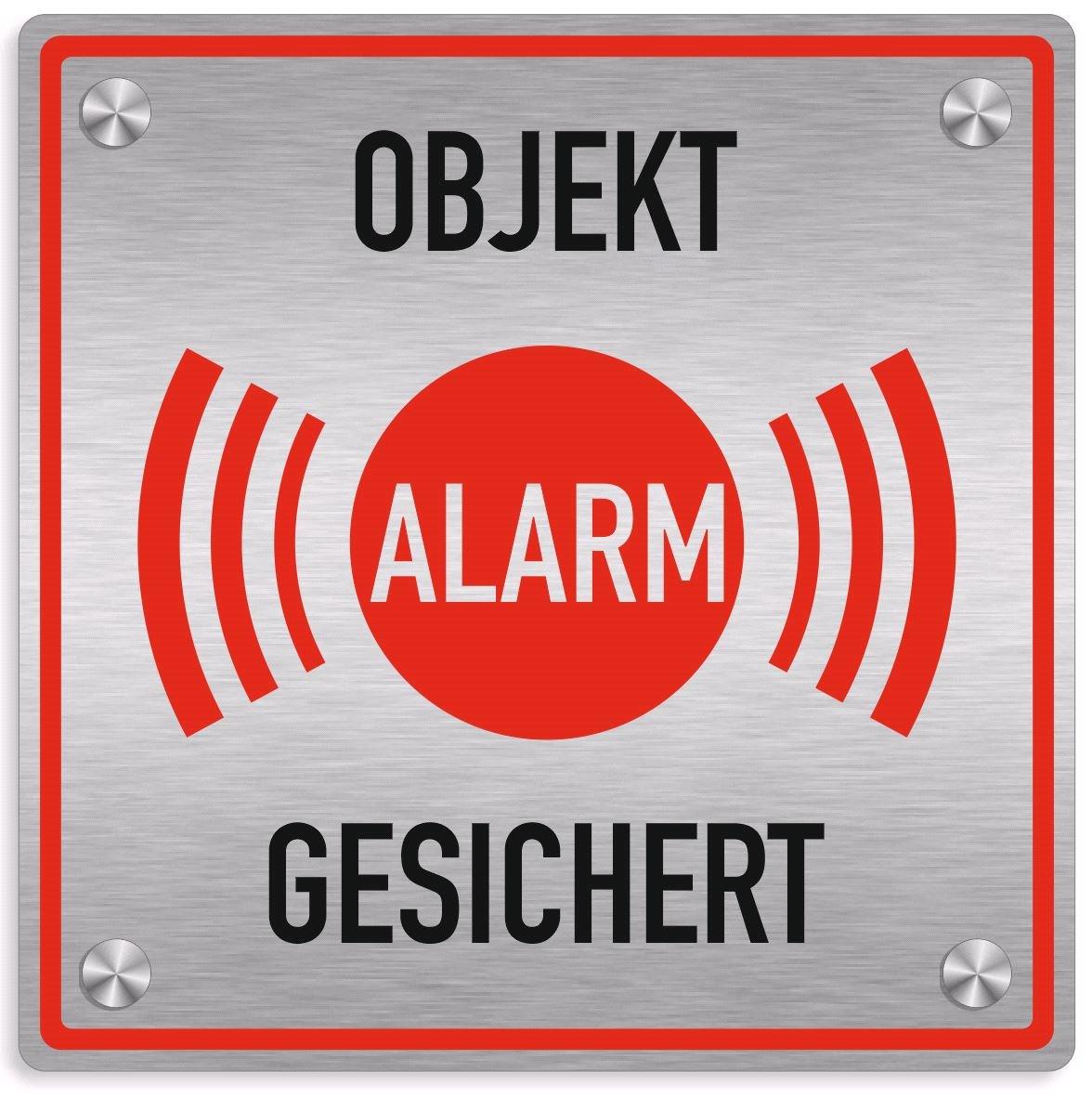 Cartel Alarma, objeto alarmgesichert + + + con kit de ...