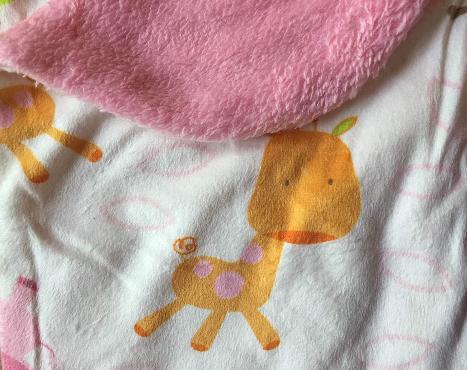 Pink Hedgehog Warm and Cozy Extra Soft Micro Plush Fleece Blanket Anti-Pilling Sherpa Backing Multiple Designs and Themes Baby Blankets For Girls
