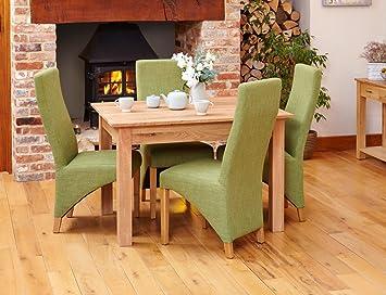 Sensational Baumhaus Mobel Oak Dining Table 4 Seater Amazon Co Uk Interior Design Ideas Clesiryabchikinfo