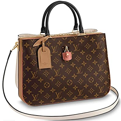 b4c66f35c80cb Louis Vuitton Monogram Canvas Tote Handle Handbag Millefeuille Sesame Peche  Article M44255 Made in France  Handbags  Amazon.com