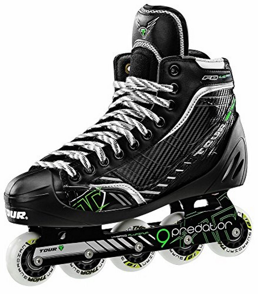 Tour Adult FB-LG72 Inline Goalie Skates Black/Green