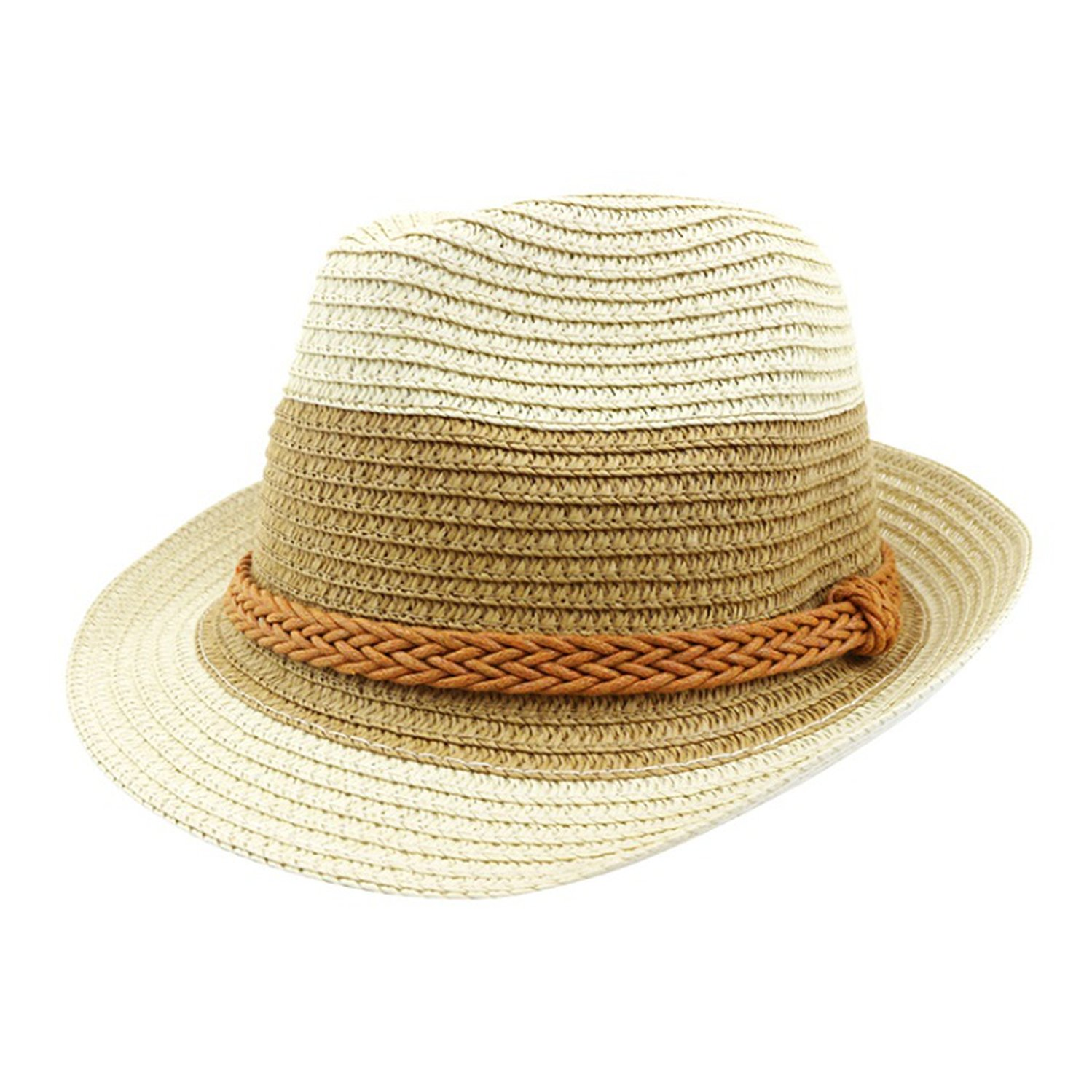 96d195e5c13 Hufong Women s Straw Hat Encryption Sun Hats Double Color Panama Summer at  Amazon Women s Clothing store
