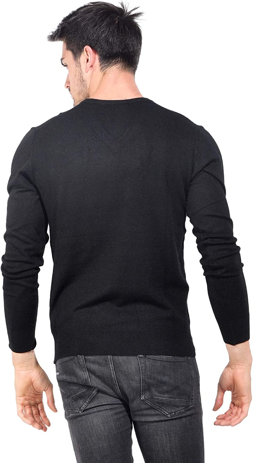 Elbow Patches Winter Collection Men Le Cachemire Fran/çais V-Neck Sweater