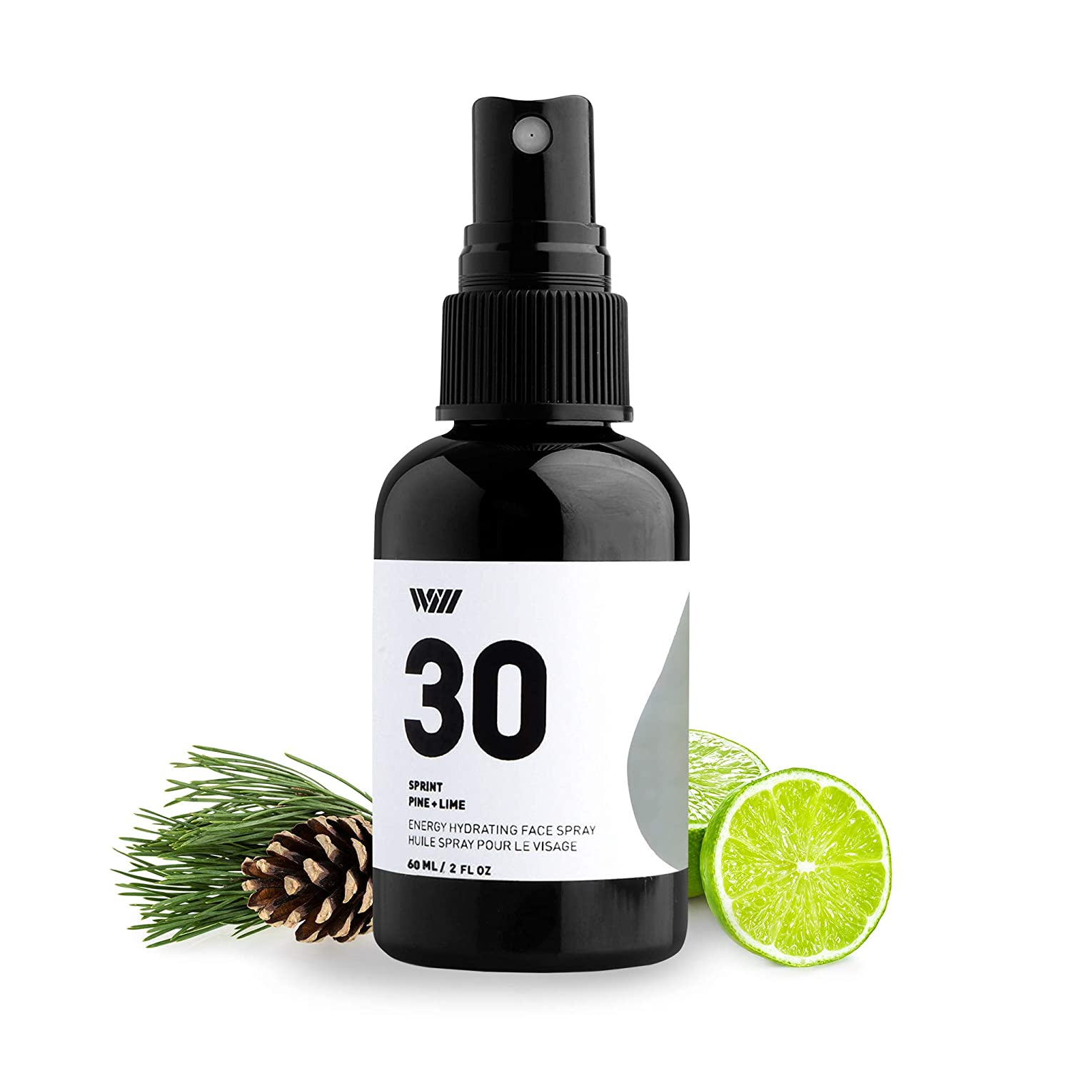 30 Hydrating Face Spray, Energizing Natural Facial Spray, Organic Face Mist Spray Infused With Essential Oils (Sprint - Pine and Lime) - Way of Will