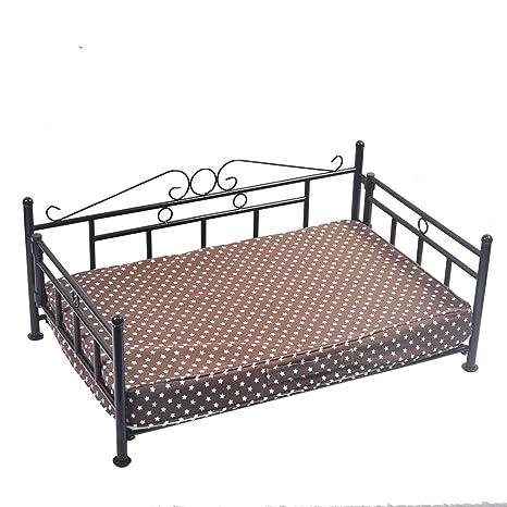 Sofá cama de lujo plegable de metal para perro, cama para mascotas, gato y