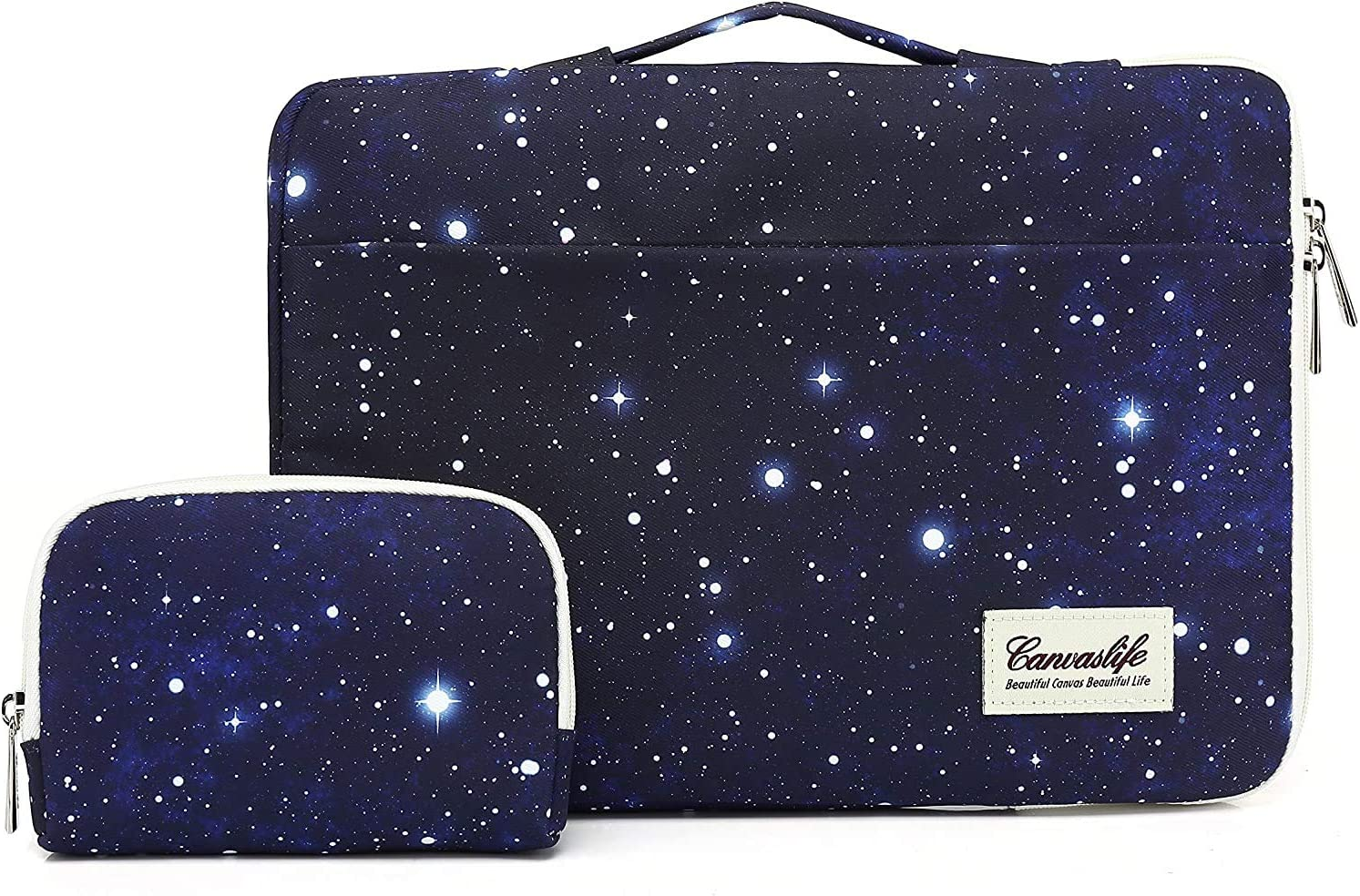 Canvaslife 15 inch Sapphire Blue Sky 360° Cushion Protective Waterproof Laptop Case Bag Sleeve with Handle for 15 inch-15.6 inch Laptop
