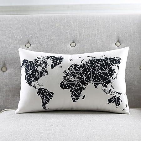 Cuscini Divano Bianco E Nero.Meiling Bianco E Nero Nordic Geometrico A Righe Divano Cuscino