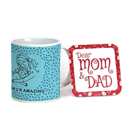 6740c6d623f Buy Indigifts Mother Daughter Love Sketch Personalized Mug 330 ml ...