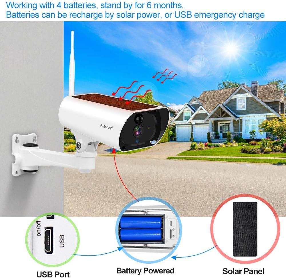 Wanscam K55A Solar Panel Wasserdicht Wi-Fi Kabellos 2MP 1080P HD Netzwerk Kamera