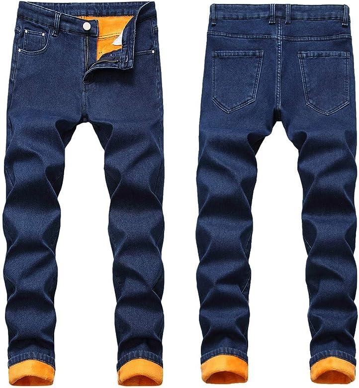 Jeans Ajustados Hombre Rotos Pantalones De Mezclilla EláSticos ...