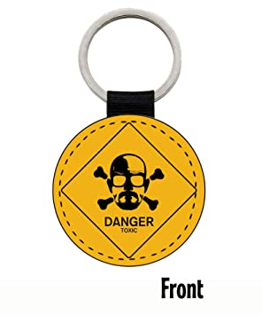MasTazas Breaking Bad Walt Danger Toxic Sign Llavero Keyring ...