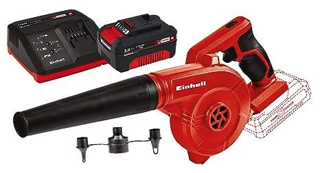 Einhell TE-CB 18/78 Li-Solo Soplador Inalámbrico 0 W, 18 V, Negro/Rojo + Power X-Change Kit cargador con batería, tiempo de carga de 60 minutos
