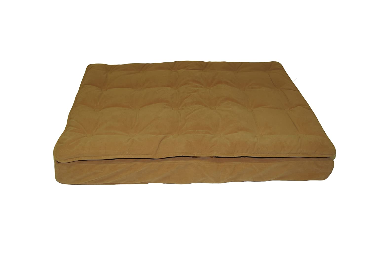 Caramel 27 by 36 by 4 Caramel 27 by 36 by 4 CPC Luxury Pillow Medium Top Mattress Pet Bed, Caramel