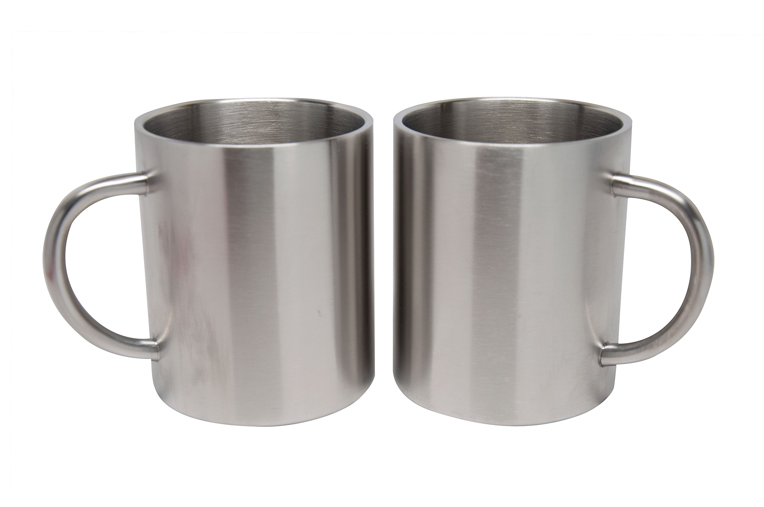 2 Pack Stainless Steel 15 Oz Double Walled Camping Cups 100% BPA Free Metal Mugs Outdoor Camp Cookware Military Surplus BBQ Hunting Accessories Bar BQ 4 Inch by Xena Intelligent Security (Image #2)