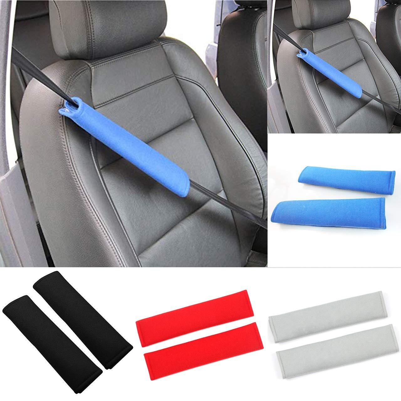 HaiQianXin 1 par de Cojines del cintur/ón de Seguridad del Coche Suave arn/és de Seguridad Correa para el Hombro cintur/ón de Seguridad Mochila Protectora para ni/ños Color : Red