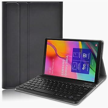 KILISON Teclado Estuche Funda Compatible con Samsung Galaxy Tab A 10.1T510/T515 [English layout], Negro: Amazon.es: Electrónica