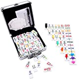 KAILE Mexican Train Dominoes with Numbers, Color Double 12 Numerical Number Dominoes Set Chicken Foot Dominoes Set with…