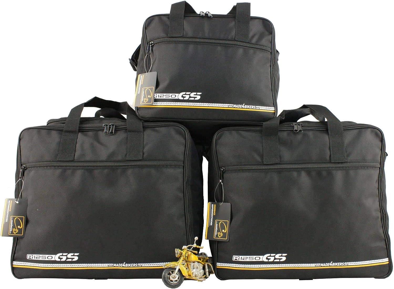 made4bikers Promotion: Bolsas Interiores Adecuado para de los Modelos BMW R1250GS Adventure (K51) a Partir de 2018 (R1250 GS) - Conjunto Completo - para los Casos de Aluminio