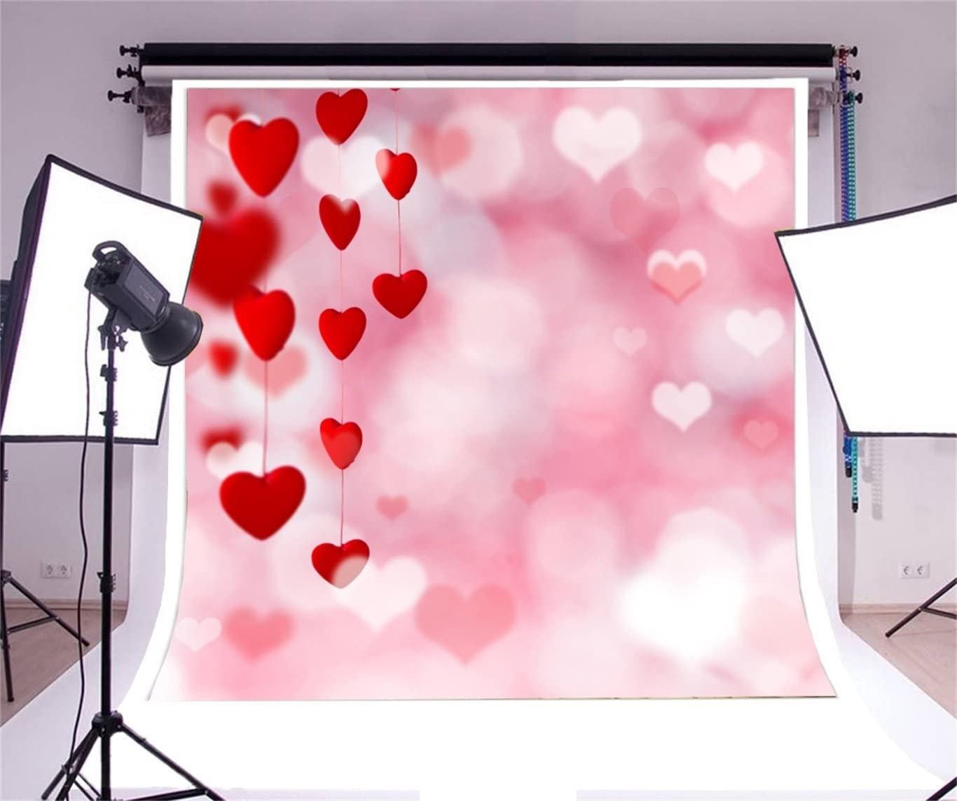 AOFOTO 10x10ft Valentines Day Photography Background Abstract Sweet Love Hearts Backdrop Lovers Girlfriend Couple Bride Woman Kid Artistic Portrait Photoshoot Studio Props Wedding Wallpaper
