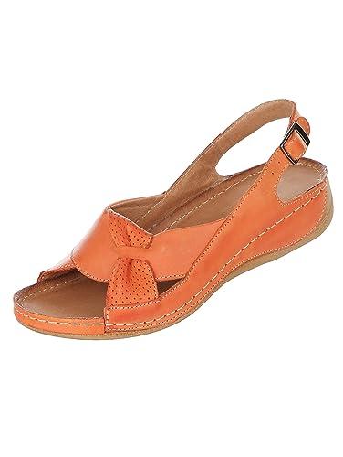 9a08c077494b KLiNGEL Women s Fashion Sandals Orange Size  7 UK  Amazon.co.uk ...