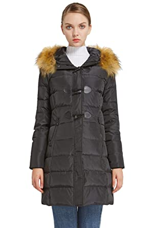 73781f60a Orolay Women's Down Jacket Hooded Outdoor Winter Thickened Coat