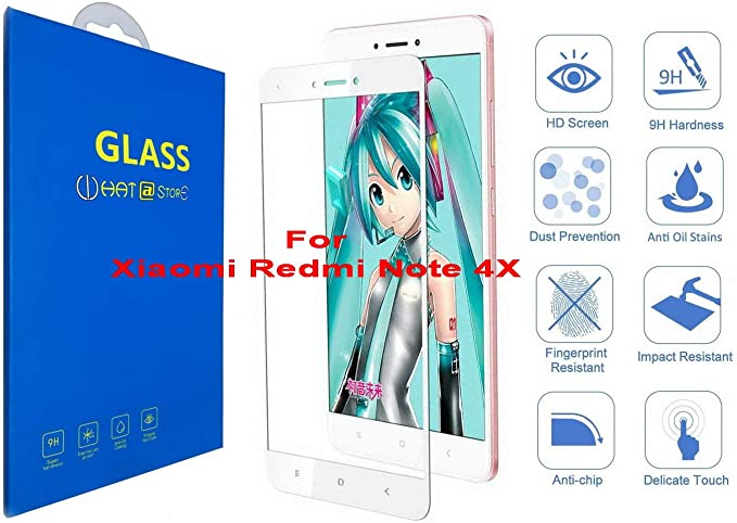 Xiaomi Redmi Note 4X - Curvo 3D Cristal Templado Protector de Pantalla [Pegamento Completo] 4D Completo Borde Curvado [ 100% Borde a Borde ] para Xiaomi Redmi Note 4X (Blanco): Amazon.es: Electrónica
