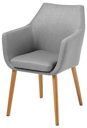 AC design furniture 60350 sillón Trine, 58 x 84 cm, funda de asiento de/la parte de la espalda de tela de Corsica, de colour gris