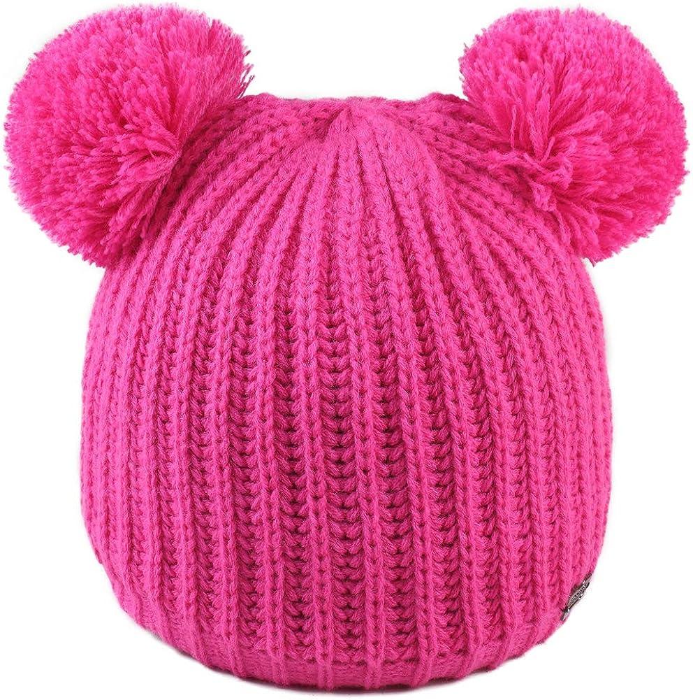 FURTALK Toddler Winter Hat Pom Beanie Knit Skull Cap Hats for Children Baby Boys Girls Kids 1-6 Years