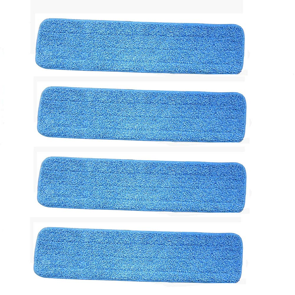 Ximoon 4 Pack- 18'' Microfiber Spray Mop Cleaning Pad Refills Replacement Heads 15 to 18 Inch Bona, Libman, O-Cedar Floor Care System -