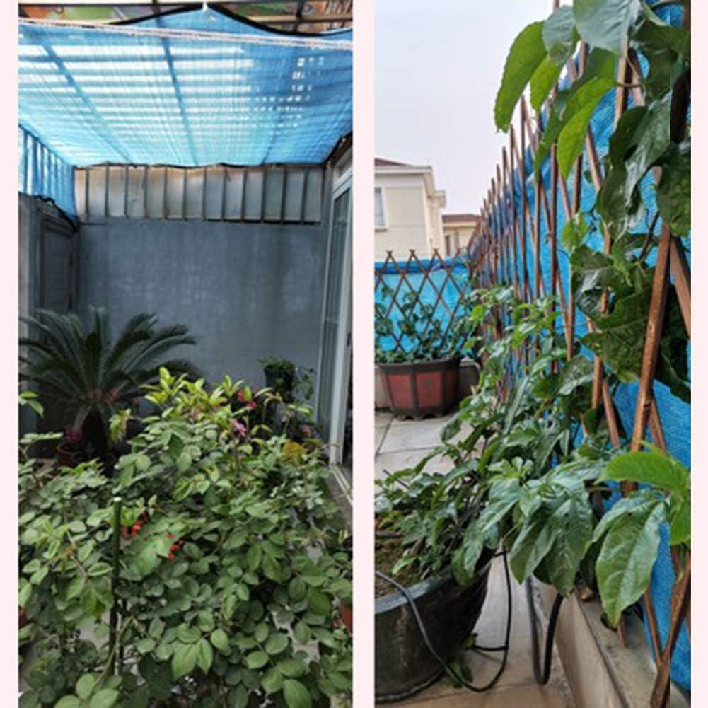 HLMBQ Rete Ombreggiante Polietilene Telo Ombra Telone Copertura frangisole Respirante Giardino recinzioni coperture balconi Azzurro 2m x 1m