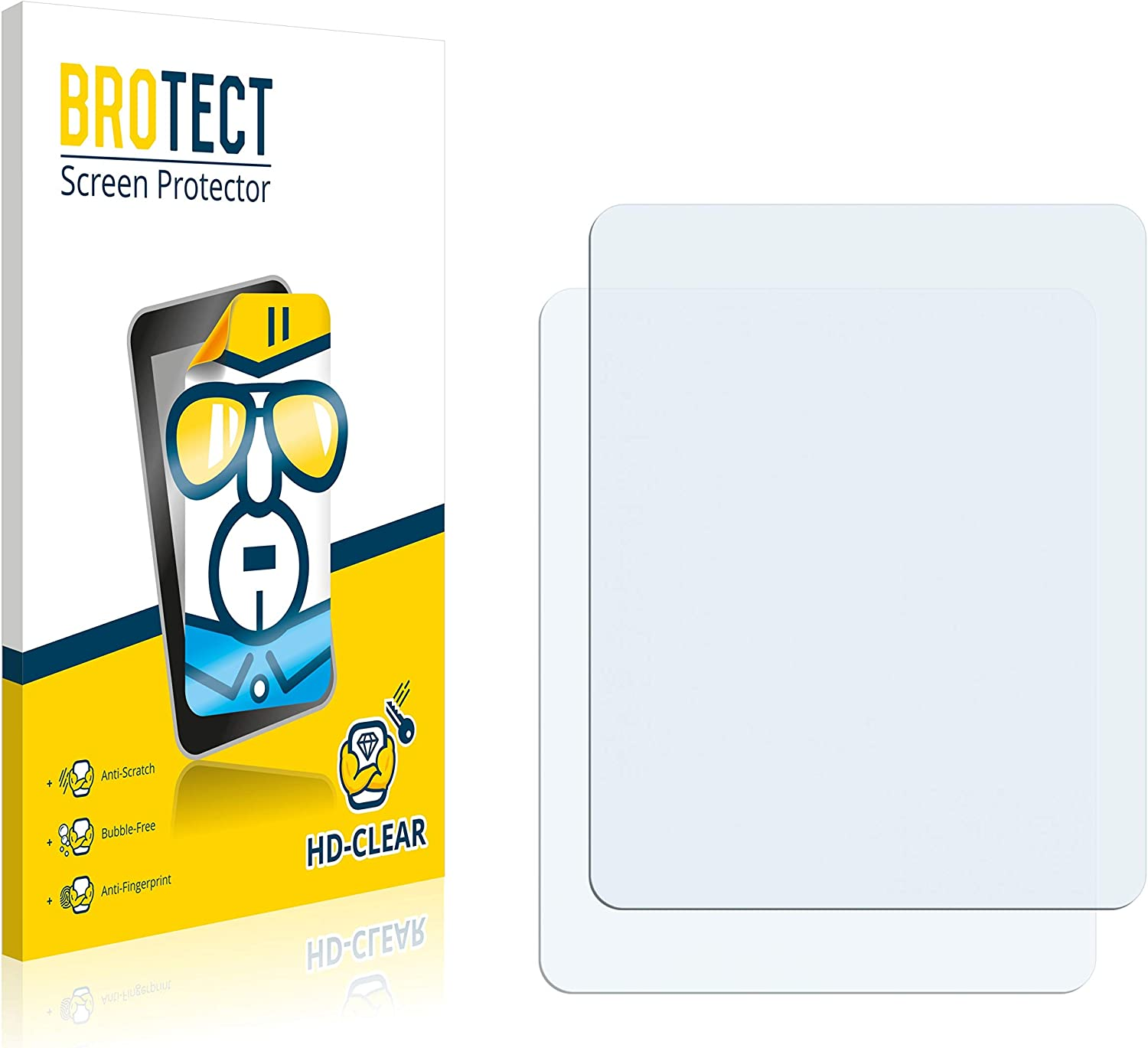 HD-Clear Protection Film brotect 2-Pack Screen Protector compatible with Volvo Polestar 2 2021 Infotainment System