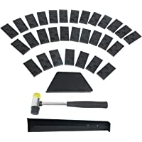 YaeTek Laminate Wood Flooring Installation Kit with 30 Spacers, Tapping Block, Pull Bar and Mallet