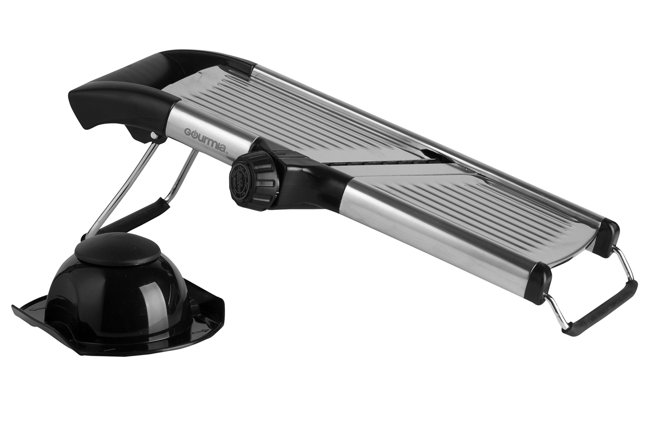 Gourmia GMS9105 Adjustable Stainless Steel Mandoline Slicer Dial-Style Kitchen Slicer With Built in Adjustable Blades Fine to Thick Slice & Julienne Settings by Gourmia (Image #8)