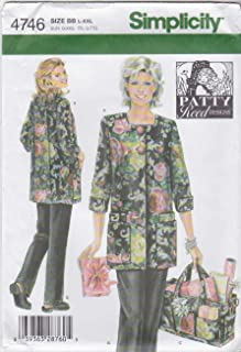 product image for Simplicity Sewing Pattern 4746 Size BB L-XXL Misses' Hobby Coat, Pants and Bag Patty Reed Design