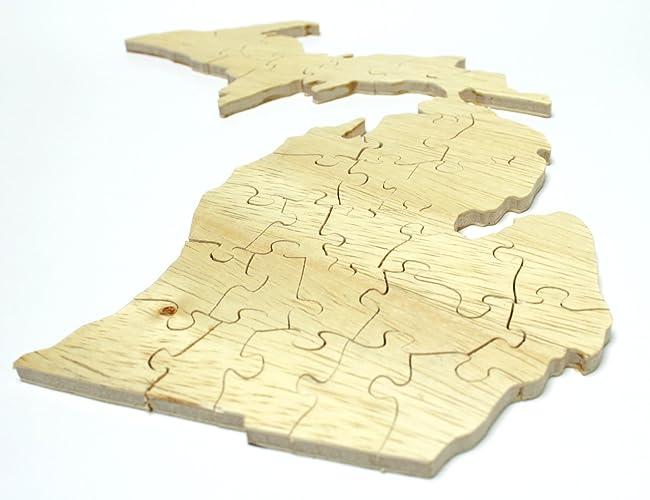 Amazon com: Michigan Jigsaw Puzzle: Handmade