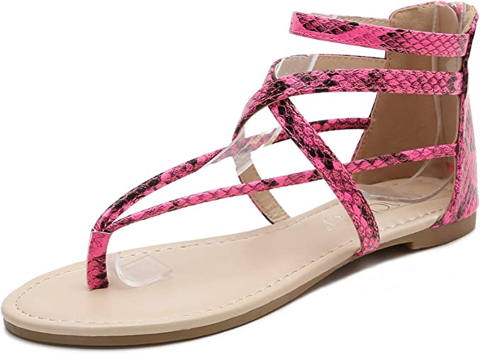 New women/'s shoes sandal open toe rhinestones gladiator summer casual fuchsia