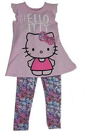 bab99ecb8 Amazon.com: Girls 2-Piece Hello Kitty Legging and Tunic Set (5 ...
