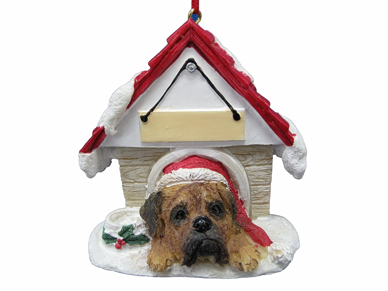 Bullmastiff Ornament A Great Gift For Bullmastiff Owners Hand Painted and Easily Personalized Doghouse Ornament With Magnetic Back