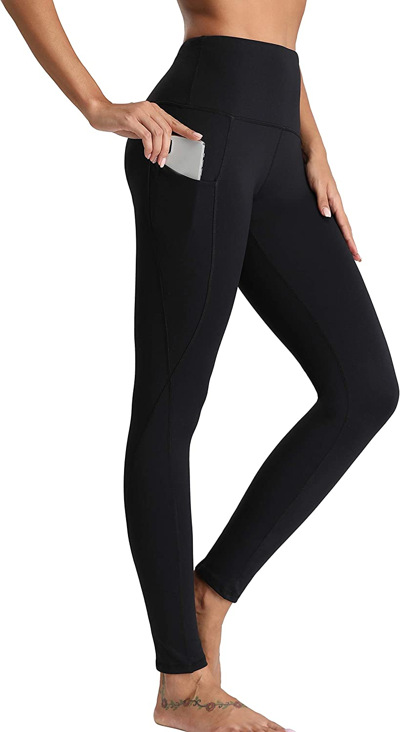 Oalka Women Yoga Pants Workout Running Leggings: Clothing