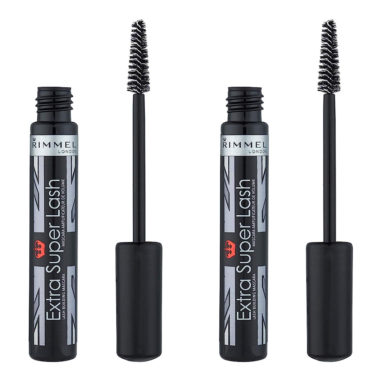 45f3407e663 Amazon.com: Rimmel Extra Super Lash Mascara, Black, 0.27 Fluid Ounce ...