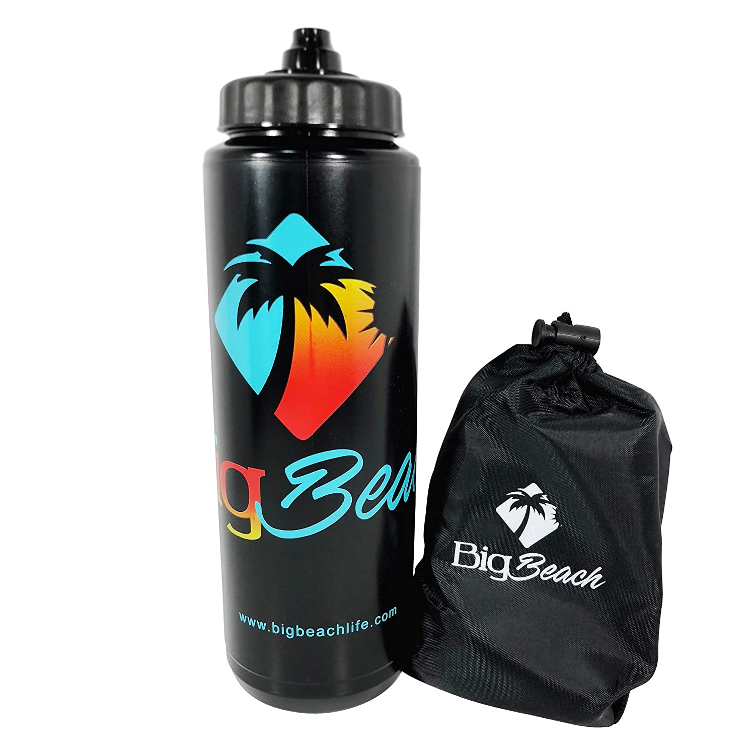 Big Beach Resistance Loop Exercise Bands with Carry Bag and Limited Edition Water Bottle