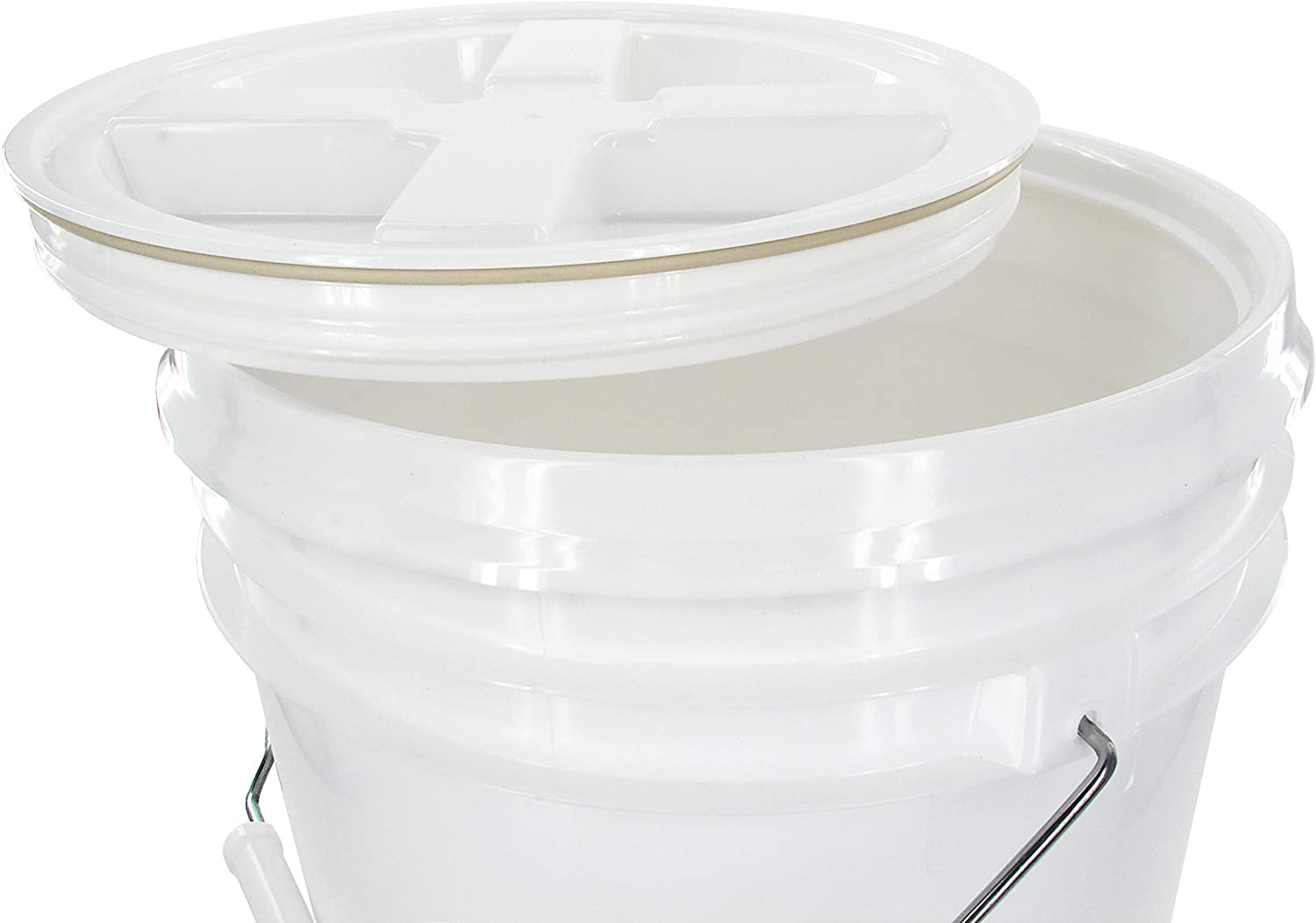 10 White Charity collection Buckets with lids and seal etc