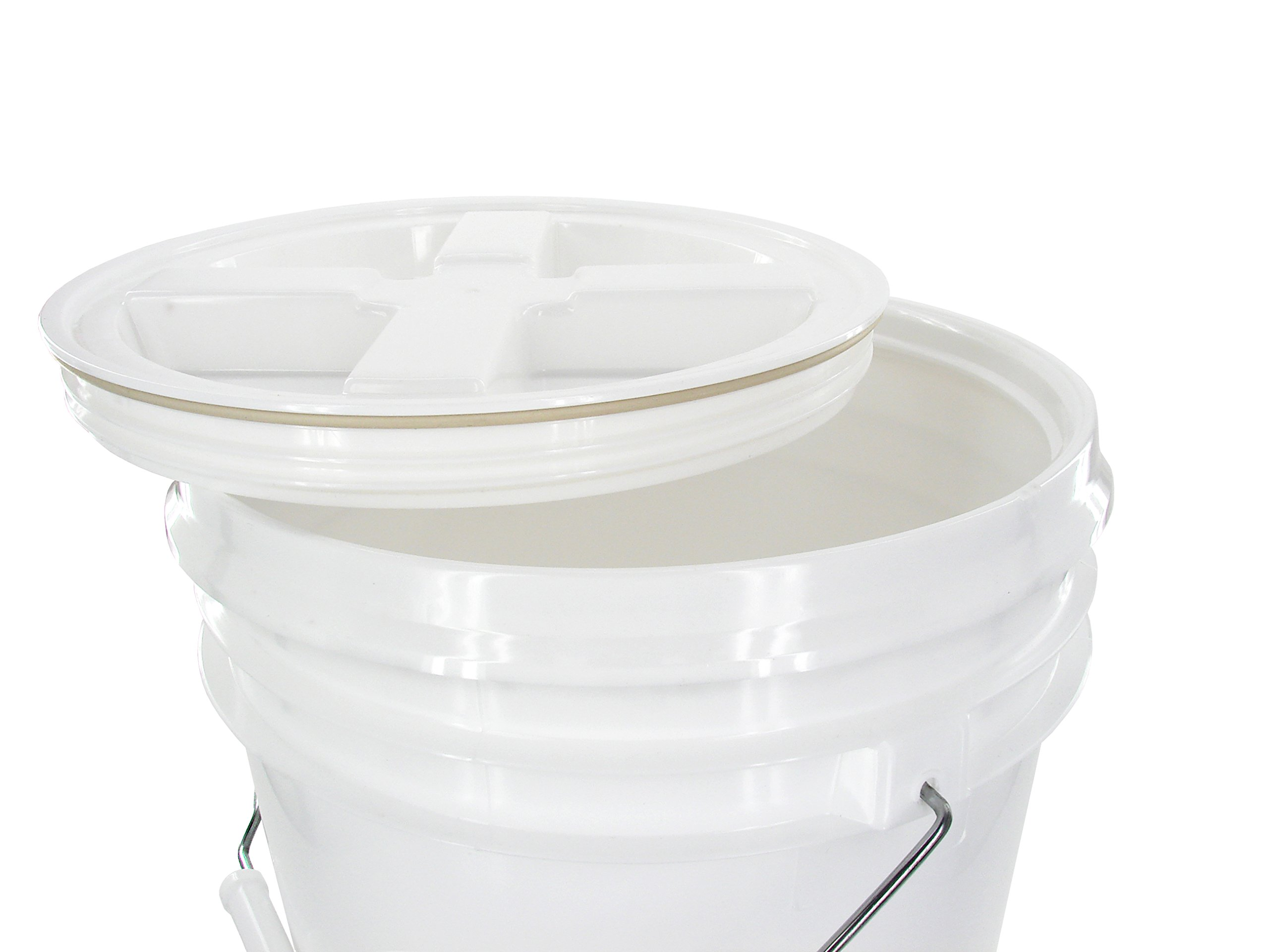 White 2 Gallon Bucket with Gamma Seal Lid (20) by API Kirk (Image #2)