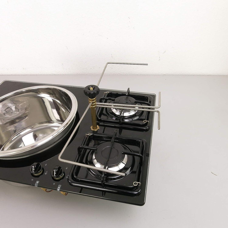 CAN PV1371 - Soporte para cocina de gas (2 fuegos): Amazon.es ...
