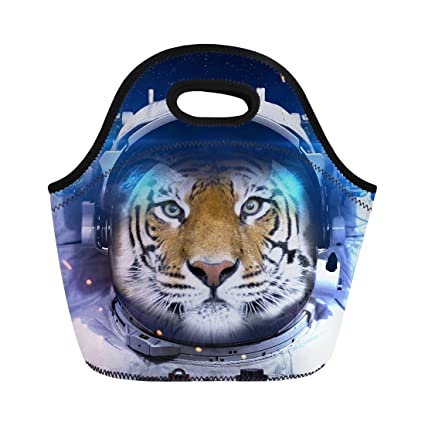 31e8113f0f84 Amazon.com: Women Lunch Bag, 3D Tiger Pattern Lunch Bags Neoprene ...