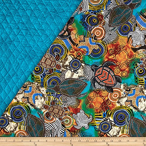 Calypso Sea Turtles Quilted Turtles Multi Fabric By The Yard (Fabric Quilted)