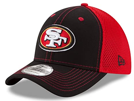 more photos a6849 23e7c Image Unavailable. Image not available for. Color  New Era San Francisco  49ers NFL 39THIRTY Team Front Neo Flex Fit Hat