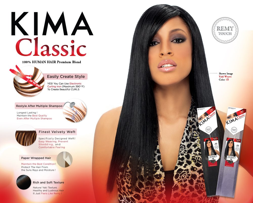 Amazon Kima Classic Yaki Weave 10 1 Hair Extensions Beauty