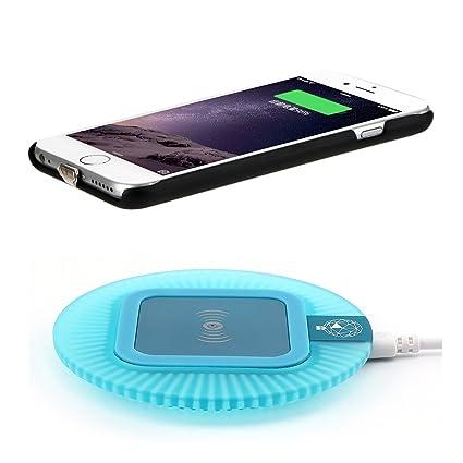 Amazon.com: Antye - Cargador inalámbrico Qi para iPhone 6 y ...